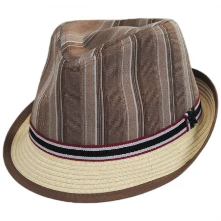 Stacy Adams Inglewood Toyo Straw Blend Fedora Hat
