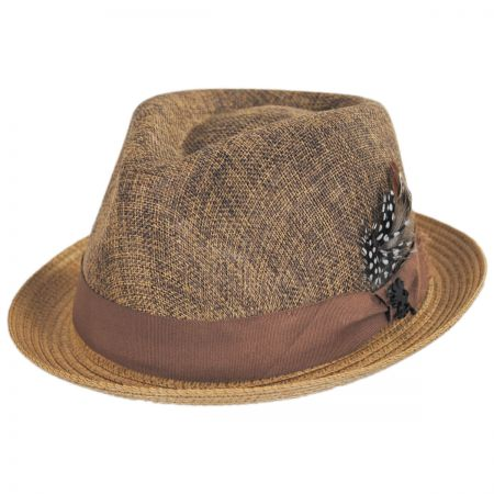 New York Toyo Straw Blend Fedora Hat alternate view 1