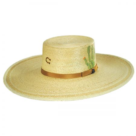 Charlie 1 Horse Cactus Palm Straw Planter Hat
