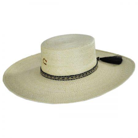 Charlie 1 Horse Caballo Loco Palm Straw Planter Hat 36b4ba7363e