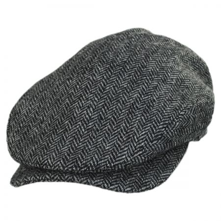 Baskerville Hat Company Chiswick Square Bill Wool Herringbone Ivy Cap