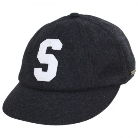 Stetson S Logo Wool Blend Fitted Baseball Cap