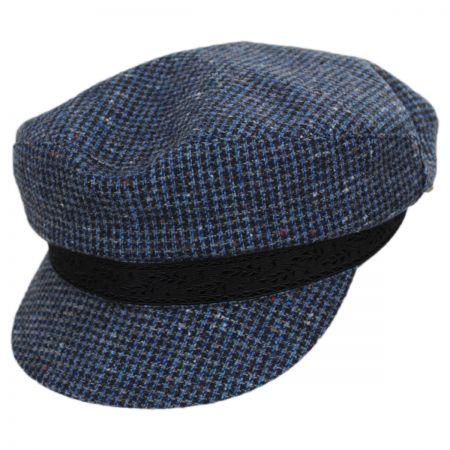 Check Wool Fiddler Cap