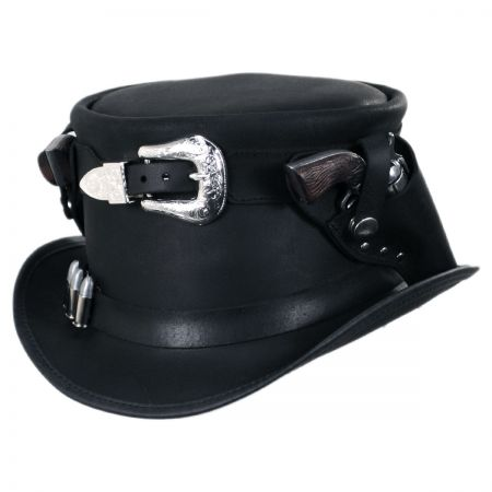 2ea6e13c24979 Leather Top Hat at Village Hat Shop