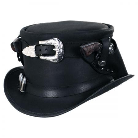 Head 'N Home Peacekeeper Leather Top Hat
