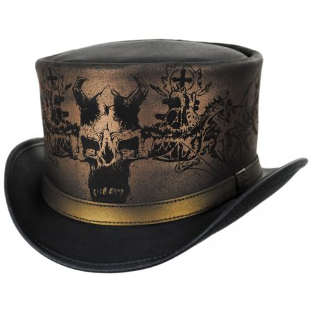 Head 'N Home Heretic Leather Top Hat