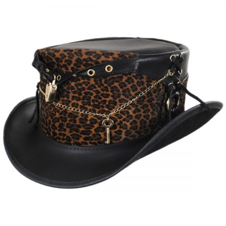 Head 'N Home Chastity Leather Top Hat