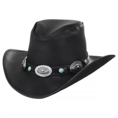 Carson City Leather Western Hat alternate view 1