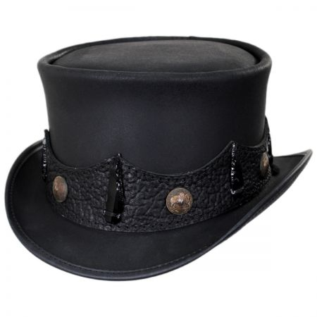 Faux Leather Hat at Village Hat Shop 15ae55b213a