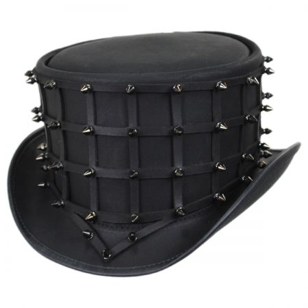 Hellraiser Leather Top Hat alternate view 1