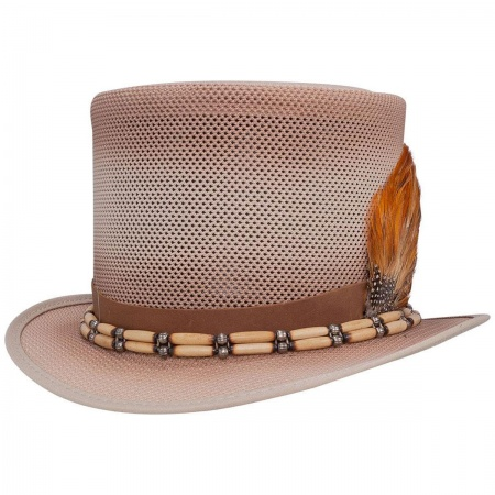 Head 'N Home Doc Bone & Feather Mesh Top Hat