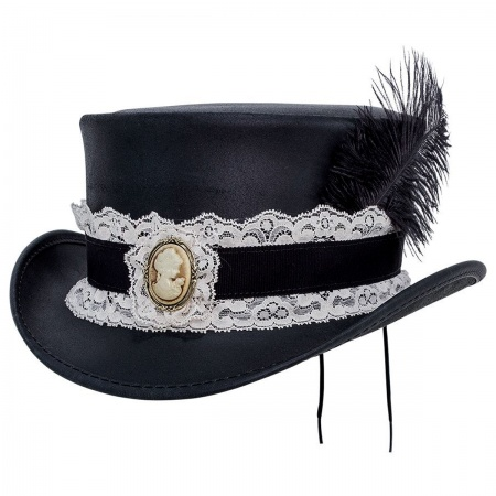 Head 'N Home Burlesque Leather Top Hat