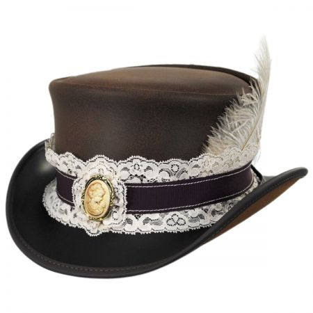 Burlesque Leather Top Hat alternate view 5
