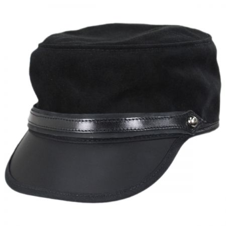 Head 'N Home City Limits Leather and Suede Cadet Cap