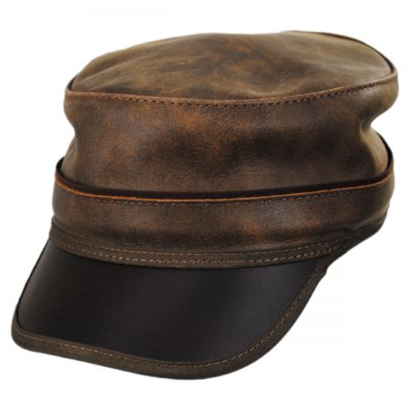 Head  N Home Bottle Rocker Leather Cadet Cap a86be362da