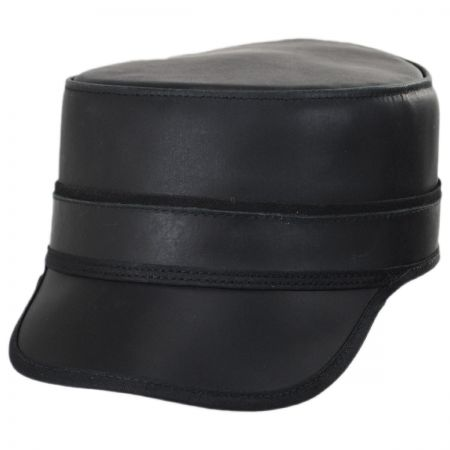 Head 'N Home Bottle Rocker Leather Cadet Cap