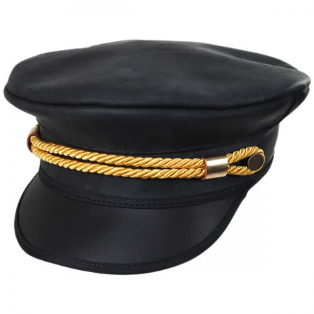 Head  N Home Sweetwater Leather Military Peaked Cap 21d3555d6a
