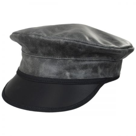 Ultra Leather Military Peaked Cap