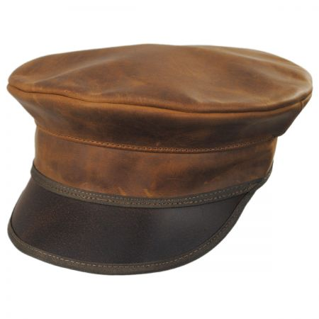 Ultra Leather Military Peaked Cap alternate view 5