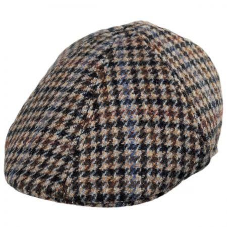 5ee6ebad7d4 Baskerville Hat Company Hugh Wool Houndstooth Duckbill Cap