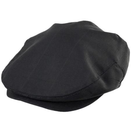 Baskerville Hat Company Sloane Wool Shadow Windowpane Ivy Cap