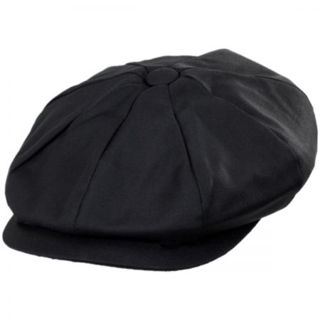 Baskerville Hat Company Warwick Wool Solid Newsboy Cap