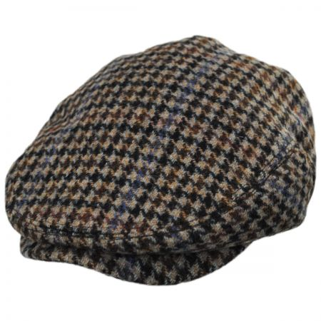 Baskerville Hat Company Barnabas Wool Houndstooth Ivy Cap