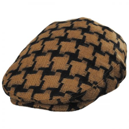 Baskerville Hat Company Huntsworth Wool Houndstooth Ivy Cap