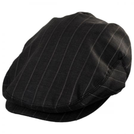 Baskerville Hat Company Clifton Wool Pinstripe Ivy Cap