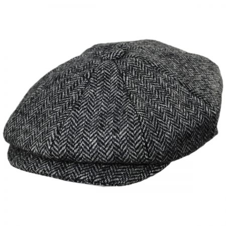 Baskerville Hat Company Pimlico Wool Herringbone Newsboy Cap