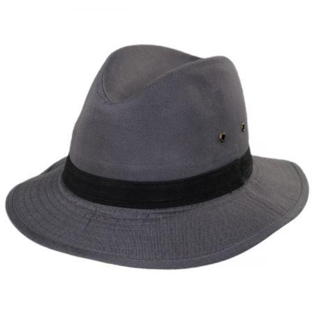 Packable Cotton Twill Safari Fedora Hat alternate view 10