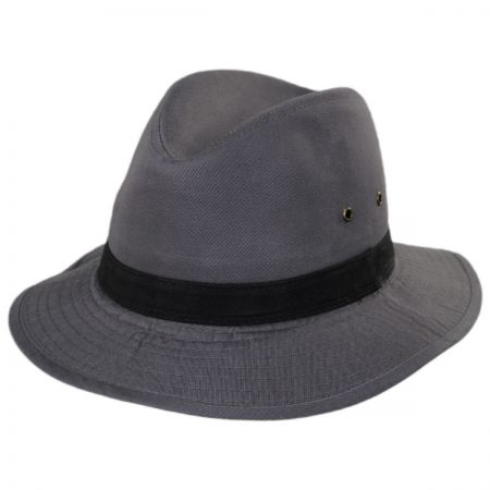 Packable Cotton Twill Safari Fedora Hat alternate view 9