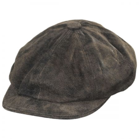Rustic Leather Newsboy Cap alternate view 17