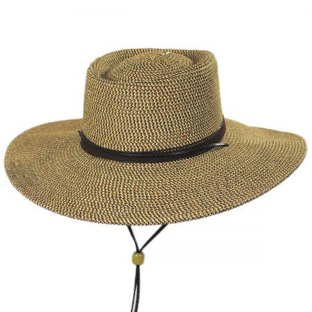 Bruges Toyo Straw Blend Boater Hat alternate view 1