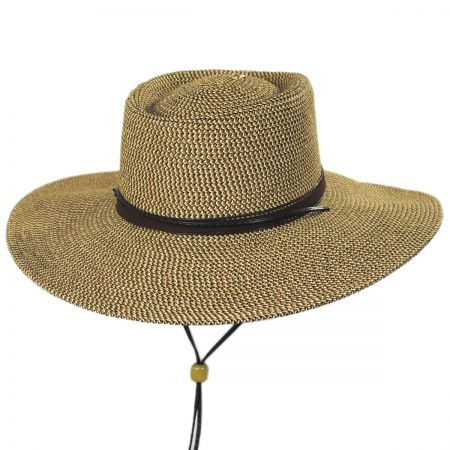 Scala Bruges Toyo Straw Blend Boater Hat a027fdaca99