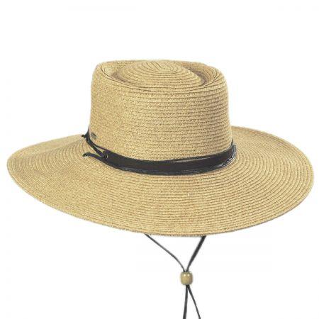 Bruges Toyo Straw Blend Boater Hat alternate view 5