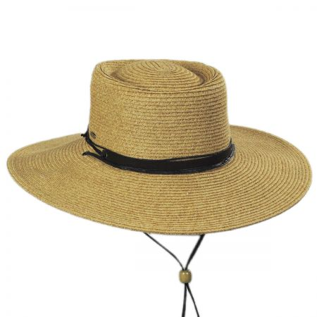 Scala Bruges Toyo Straw Blend Boater Hat 7b1362f961ed