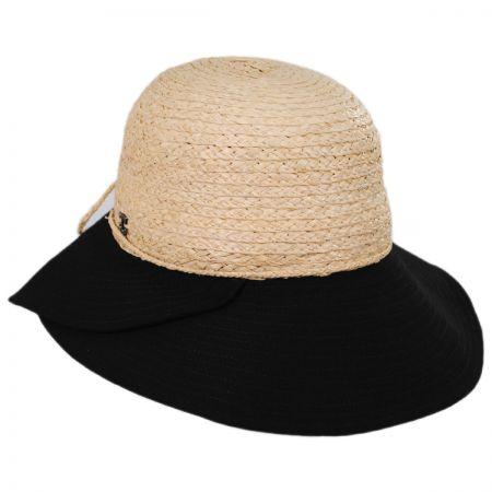 Gustavia Raffia and Cotton Cloche Hat alternate view 1