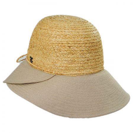Gustavia Raffia and Cotton Cloche Hat alternate view 5