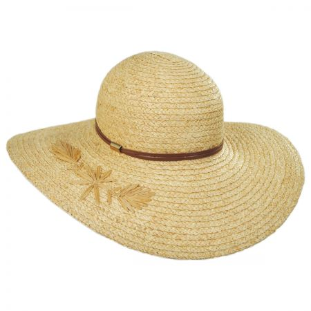 Trancosco Raffia Braid Straw Swinger Hat