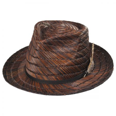 Crosby Straw Fedora Hat alternate view 1