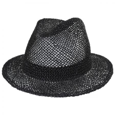 Dunns Open Weave Straw Fedora Hat alternate view 1