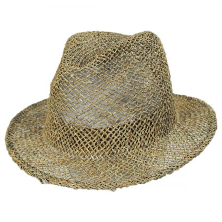 Dunns Open Weave Straw Fedora Hat alternate view 7