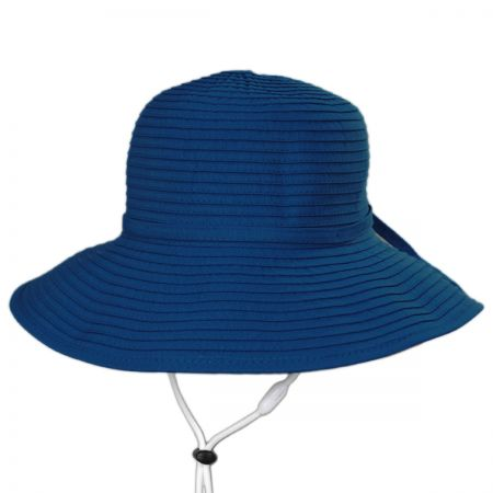 Scala Seashell Ribbon Kids Sun Hat