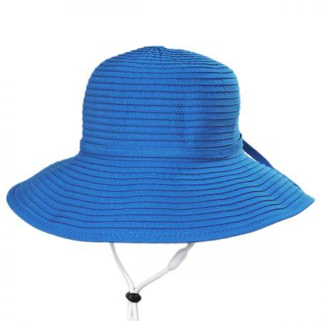 Scala Seashell Ribbon Kids Sun Hat