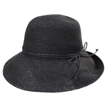 Scala Graziella Breton Hand Crocheted Toyo Straw Sun Hat 1f812be9155