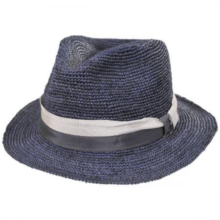 Matteo Hand Crocheted Raffia Straw Fedora Hat alternate view 1