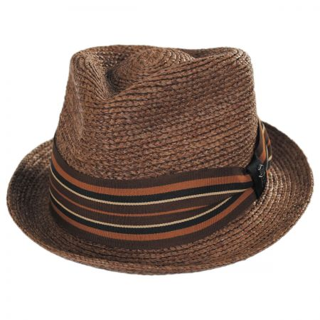 3e31b474e26 Brown Straw Fedora at Village Hat Shop