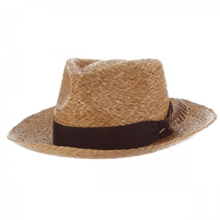 Paolo Raffia Straw Fedora Hat alternate view 1