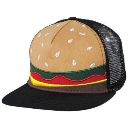 Kids Burger Trucker Snapback Baseball Cap alternate view 1